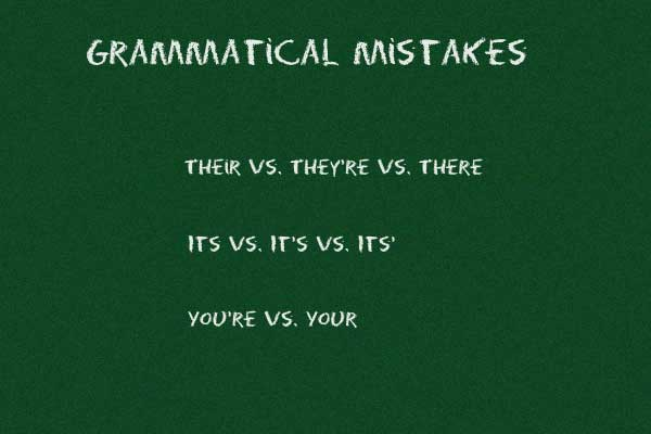 English grammatical mistakes
