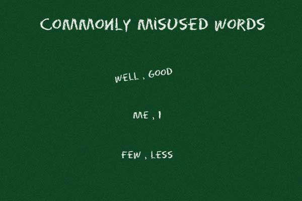 English grammar refresher: commonly misused words