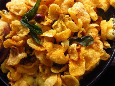 Cornflakes Chivda  Spicy Indian Cornflakes Mix