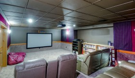 How to Turn Your Basement Into a Media Room